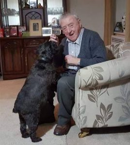 87 year old Bob only sees his friends occasionally and Darkie is his best friend