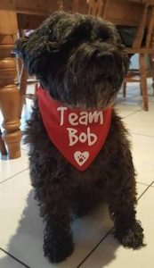 Team Bob's mascot, Darkie the dog