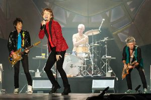The Rolling Stones rocking and rolling