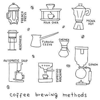 Multiple ways to enjoy coffee