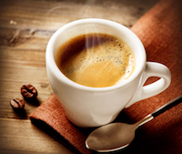 A cup of magic - an expresso coffee