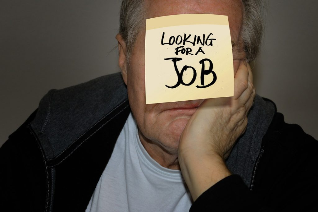 Illustrating losing your job over 50