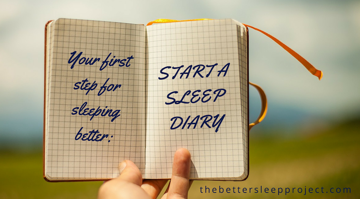 Illustration of a sleep diary to note down patterns which may help you improve your sleep quality