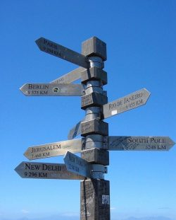 where are you going to live in retirement. Illustrative sign post