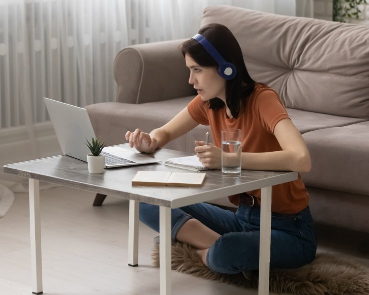 Sitting-cross-legged-for-zoom-calls is an exercise that improves your posture