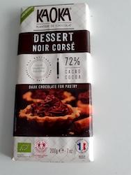 A bar of specialist Corsican dark chocolate