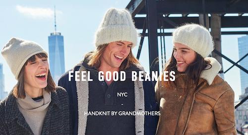 Wooln website sells beanies and knitwear made by grandmas,