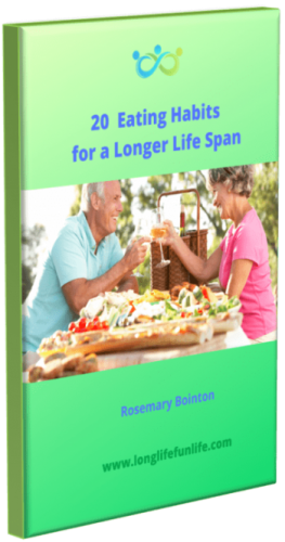 Picture of book '20 Eating Habits for a Longer Life Span' to down load